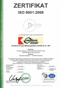 Zertifikat OSO 9001